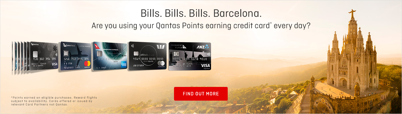 Use your Qantas Points earning credit card every day