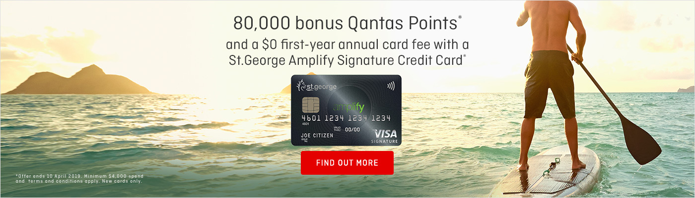 Earn Qantas Points with a St.George Amplify Signature credit card