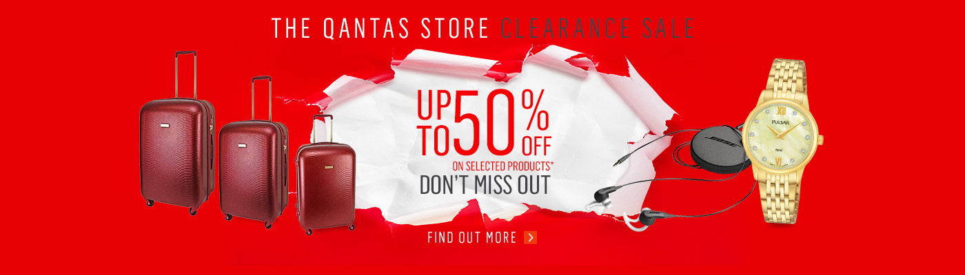 The Qantas Store Clearance Sale