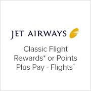 Jet Airways - Classic Flight Rewards or Points Plus Pay - Flights