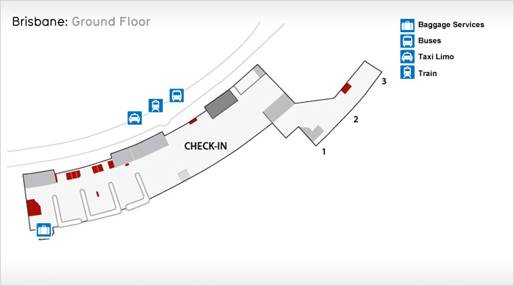 Brisbane Airport Ground floor
