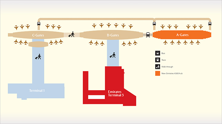 Dubai Airport Map