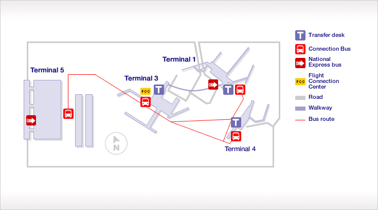 how to travel from terminal 4 to terminal 5 lhr