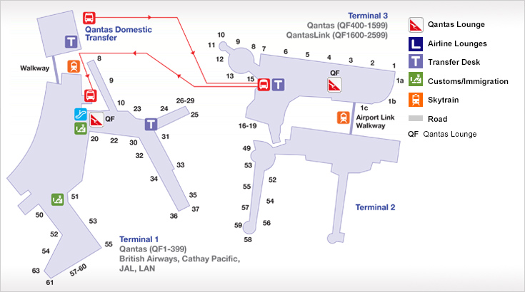 Sydney Airport Terminal Map Sydney Domestic Airport (T3) Guide | Qantas