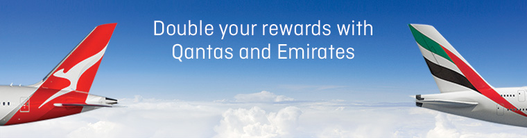 Earn double points with Qantas and Emirates