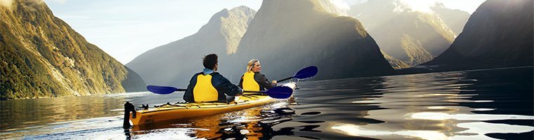 Kayaking Milford Sound, South Island New Zealand