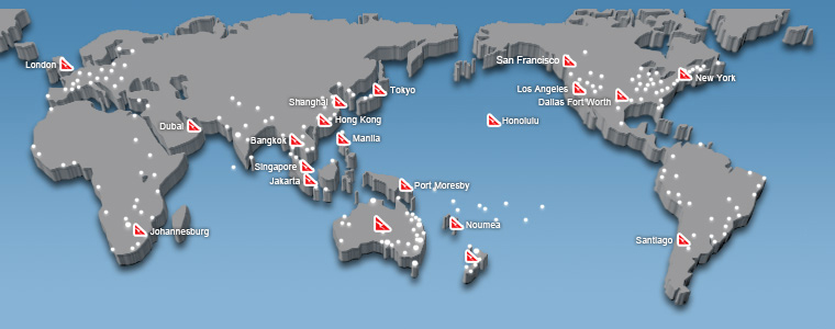 Qantas Route Map Our Network | Qantas