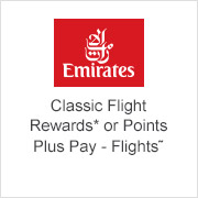 Emirates - Classic Flight Rewards or Points Plus Pay - Flights